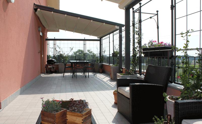 Terrazzo attico moderno brugherio ciciriello ristrutturazioni