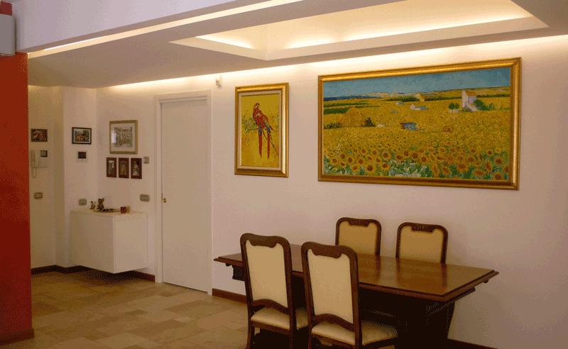 Sala da pranzo attico moderno brugherio ciciriello ristrutturazioni
